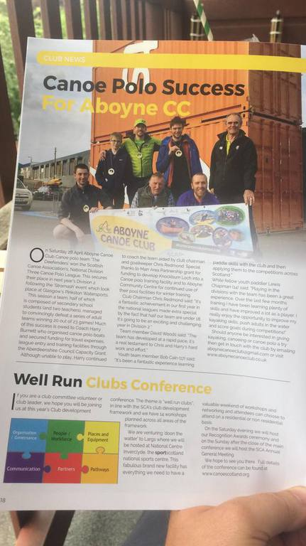 Aboyne Canoe Club - Press Articles